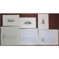 Group of 6 American Bank Note Co. Printing Ephemera