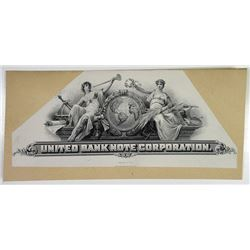 United Bank Note Corporation. ND (ca. 1905-11). Proof Stock Certificate or Bond Title Vignette.