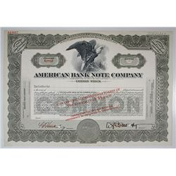 American Bank Note Co. Specimen Stock Certificate