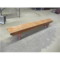 (DL) 8' Long Wood Bench- Vintage