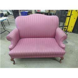 (DL) Upholstered Settee- Vintage