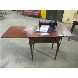 (DL) Vintage Cabinet Singer Sewing Machine