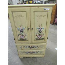 """(DL) Dresser w Art Painted on It 52""""H 32""""W 17""""D"""