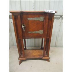 """(DL) Vintage Humidor Cabinet 27"""" H 17""""W 9""""D"""