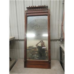 """(DL) Vintage Eastlake Mirror- Mirror Broke But Nice Frame - 60""""H 25""""W"""