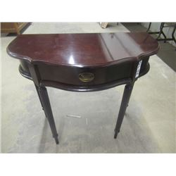 """(DL) Hall Stand 1/2 Moon W Drawer 29""""H 32""""W 16""""D"""