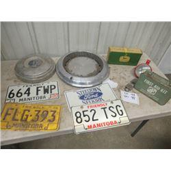 License Plates, Hub Caps, Metal 1st Aid Kit , JD Parts, Keep On Trucking Floor Mat
