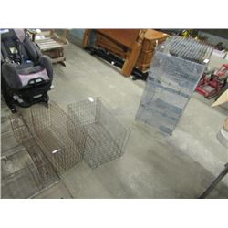 3 Small Animal/Chicken Cages, 1) 3 Tier, 2) 2 Side By Side Pens