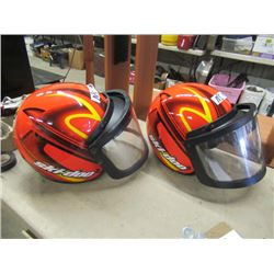 2 Skidoo Helmets