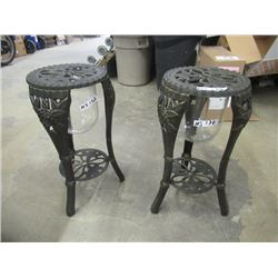 """2 Cast Plant Stands/Candle Holders 24""""H 12""""W"""