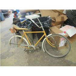 Vintage Pedal Bike, Sparkle Banana Seat No Rear Wheel- VIntage