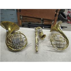 2 Tubas, 1 Saxaphone, As is -Great Display Vintage