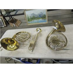 2 Tubas, 1 Trumpet- AS IS - Great Wall Display