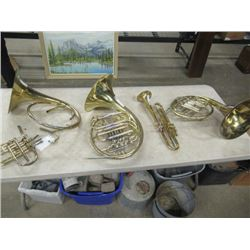 3 Tubas, 1 Trumpet, AS IS- Great Wall Display