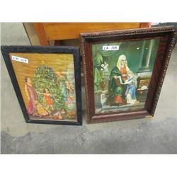 2 Religious Pictures - Vintage