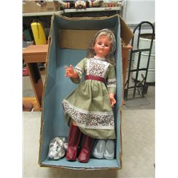 "Vintage Wendy Walker Doll 30"" w Box"