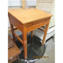 "Vintage Wooden School Desk 30""H 24""W 19""D"