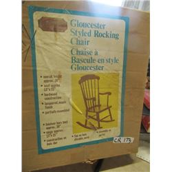 New Old Stock - Unassembled Rocking Chair & Child's Workbench