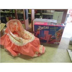 Barbie Work Out Centre & Doll Bed VIntage