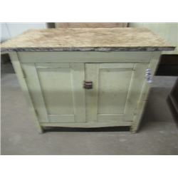 """Vintage Painted Washstand 28""""H 36""""W 18""""D"""