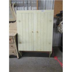 """Vintage Painted Pantry 57""""H 37""""W 10""""D"""