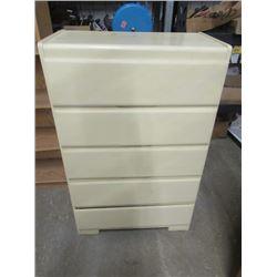 "Vintage Painted Dresser 5 Drawers 44""H 28""W 15""D"