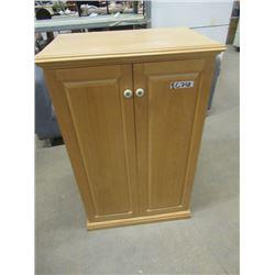"""(EC) Maple Cabinet 2 Door 40""""H 26""""W 17""""D"""