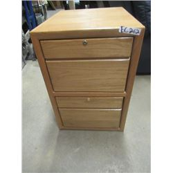 "(EC) Oak 2 Drawer Filing Cabinet 29.5""H 20""W 24""D"