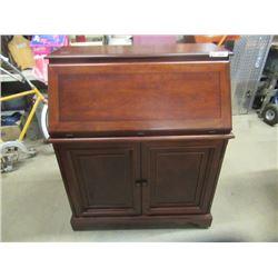 "(EC) Modern Solid Wood Drop  Front Writing Desk 43""H 37""W 20""D"