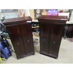 """(EC) Modern 2 Matching Cabinets 42""""H 21.5""""W 11.5""""D"""