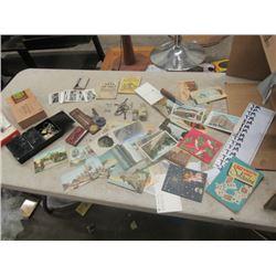 Skeleton Keys, Post Cards, Toys & Magic Book CBC Thermometer Plus More!