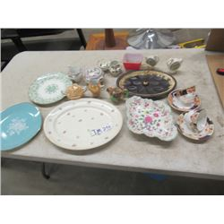 China Cups & Saucer, Cream & Sugar, Plates, Plus More