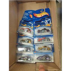 8 Hotwheel Motorcycle Toys in Package