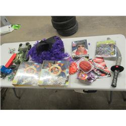 Various Toys, Halloween Costumes, 2 Don Cherry Binders,  Plus More
