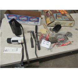 New Old Stock Seat Covers, Grain Moisture Tester, Pry Bar Plus More!