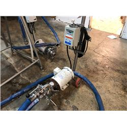 TANK PUMP WITH ATTACHED BLUE HOSE, SMVECTOR CONTROLLER