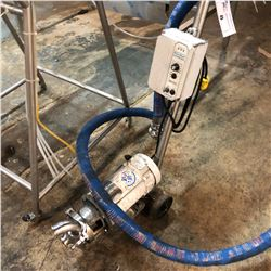TANK PUMP WITH ATTACHED BLUE HOSE, PENTA-DRIVE CONTROLLER