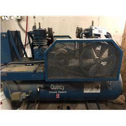 QUINCY MODEL 0C03008D3 HP DUAL HEAD AIR COMPRESSOR, 208 V, 3 PH, NEEDS ELECTRICAL CONNECTION