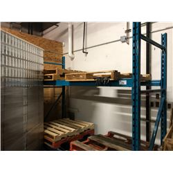 SINGLE BAY OF BLUE 8' PALLET RACKING