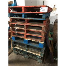 ALL EMPTY PALLETS IN BUILDING