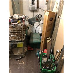 CONTENTS OF SMALL ROOM INC. TOOLS, SET OF 4 TIRES AND MORE, CONTENTS OF BOILER ROOM NOT INCLUDED