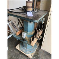 1 HP VERTICAL SPINDLE SANDER, MODEL OVS-10, S/N 358, 220V, 1 PH