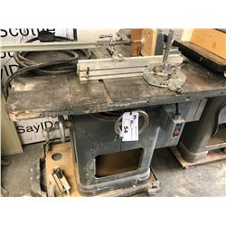 ROCKWELL TABLE SAW, MODEL 34-450, 230 V, 1PH, WITH ACCESSORIES
