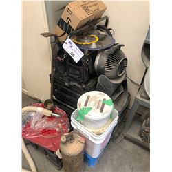 ASSORTMENT OF TOOLS, PARTS, SUPPLIES, AIR LINES AND MORE
