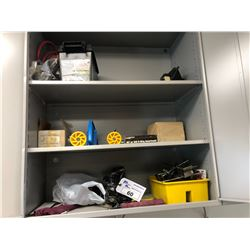 CONTENTS OF CABINET INC. TOOLS, PARTS, SUPPLIES AND MORE