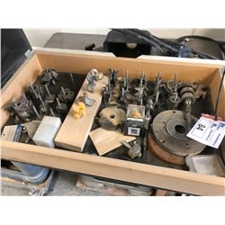 ASSORTMENT OF WOODWORKING BITS WITH STORAGE BOX