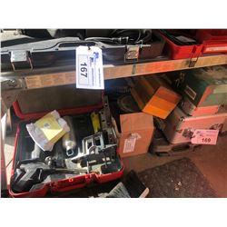 CONTENTS UNDER BENCH INC. FOAM GUN AND EMPTY CASES