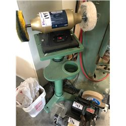 """MAGNUM 6"""" BENCH POLISHER ON STAND"""