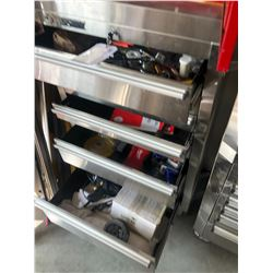 HUSKY 7 DRAWER MOBILE TOOL CHEST WITH CONTENTS INC. WRENCHES, IMPACT GUN AND MORE