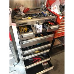 HUSKY 11 DRAWER MOBILE TOOL CHEST WITH CONTENTS INC. SCREW DRIVERS, DRILL BITS, WRENCHES AND MORE